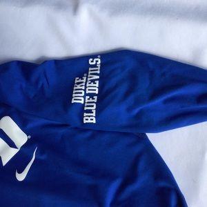 Nike Tops - Duke University Dri-Fit Pullover  SZ L